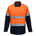 Hi-Vis Two Tone Lightweight Long Sleeve Shirt with Tape