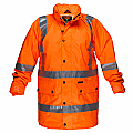 Rain Jacket with Cross Back Tape - Orange