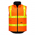 Polar Fleece Vest with Micro Prism Tape - Orange