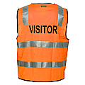 Day/Night Safety Vest with Tape - Visitor - Orange