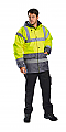 Hi-Vis Contrast Traffic Jacket - Yellow/Navy