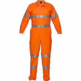 Lightweight Orange Coveralls with Tape