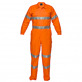 Flame Resistant Coverall with Tape - Orange