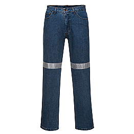 Denim Pants with Tape - Blue