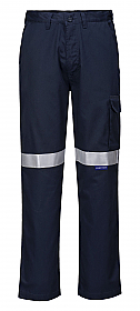 Flame Resistant Cargo Pant with Tape - Navy