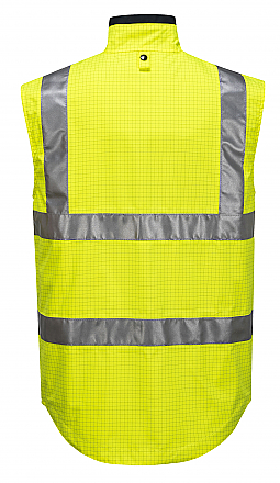 Antistatic Reversible Vest - Yellow