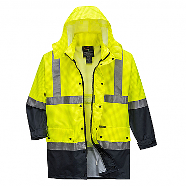 Anti Static Jacket - Yellow/Navy