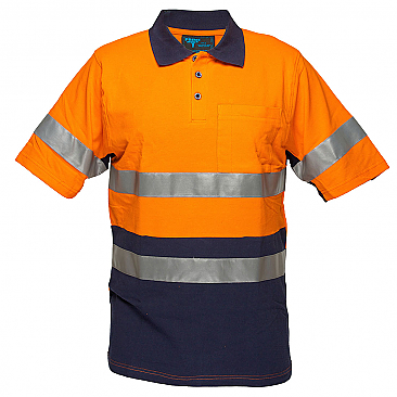 Cotton Pique Polo with Tape - Short Sleeve