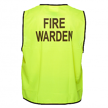Day Vest - Fire Warden - Yellow