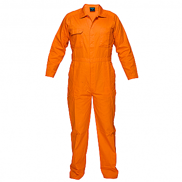 Lightweight Orange Coveralls