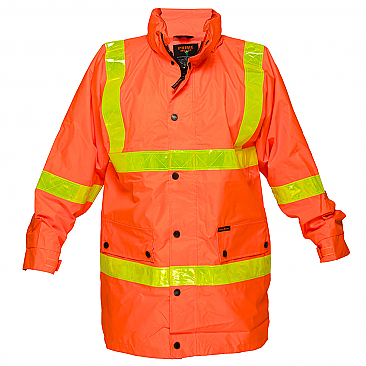 Rain Jacket with Micro Prism Tape - Orange
