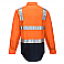 Hi-Vis Two Tone Regular Weight Shirt with Tape Over Shoulder
