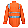 Hi-Vis Regular Weight Long Sleeve Shirt with Tape over Shoulder